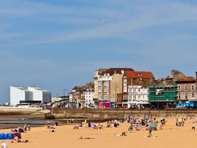 Margate Sands are world famous but the town also hosts the heritage amusement park at Dreamland.